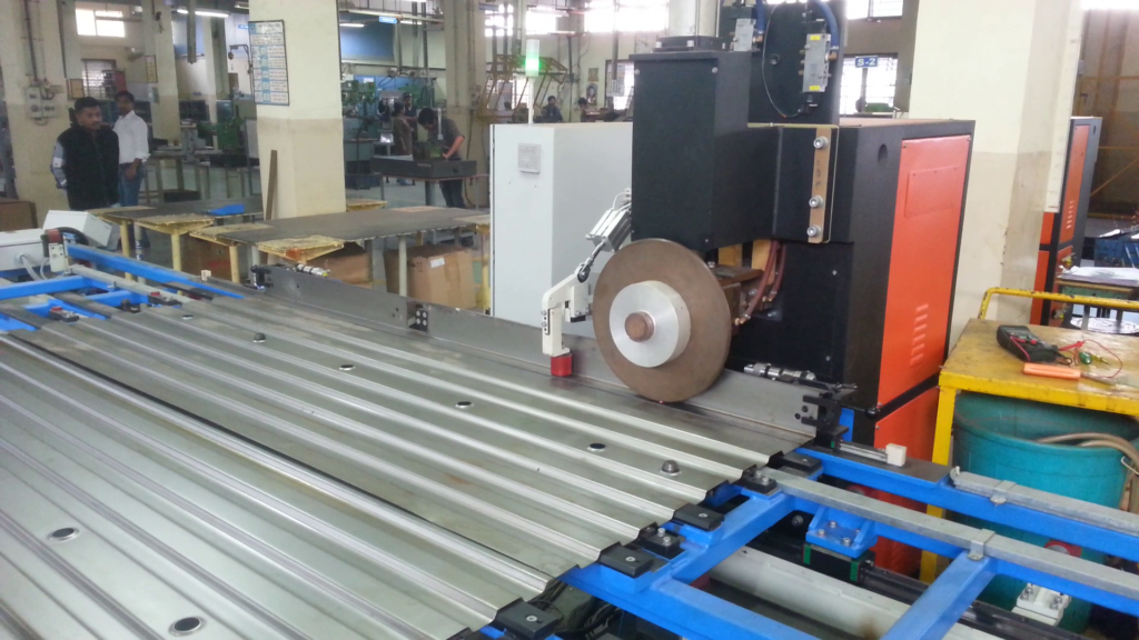 Roll Spot welding SPM integrated with roll forming machines